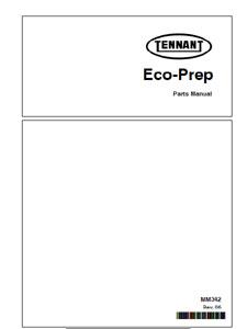 Parts Manual for Tennant Eco Prep Floor Restorer