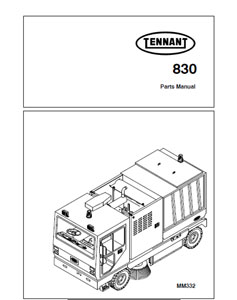 Parts Manual for Tennant 830 & 830 II Street Sweeper