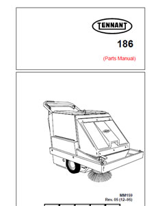Parts Manual for Tennant 186 Sweeper