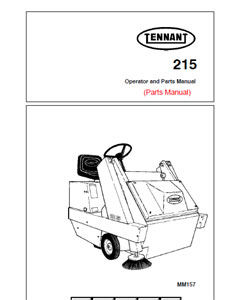 Parts Manual for Tennant 215 Sweeper