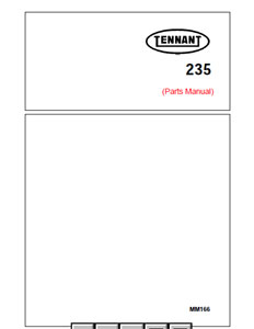 Parts Manual for Tennant 235 Sweeper