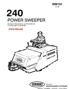 Parts Manual for Tennant 240 Sweeper