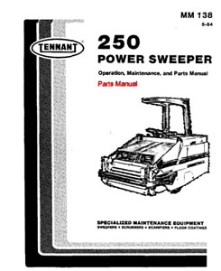 Parts Manual for Tennant 250 Sweeper