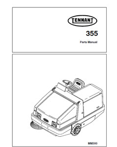 Parts Manual for Tennant 355 Sweeper