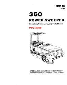 Parts Manual for Tennant 360 Sweeper