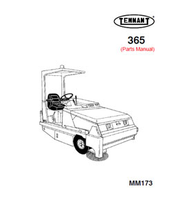Parts Manual for Tennant 365 Sweeper