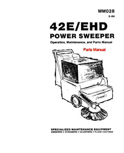 Parts Manual for Tennant 42E Sweeper