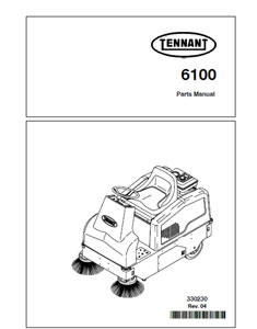 Parts Manual for Tennant 6100 Sweeper