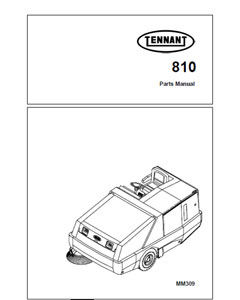 Parts Manual for Tennant 810 Sweeper
