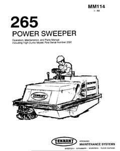 Part Manuals for Tennant Sweeper Scrubber 265