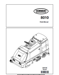 Part Manuals for Tennant Sweeper Scrubber 8010