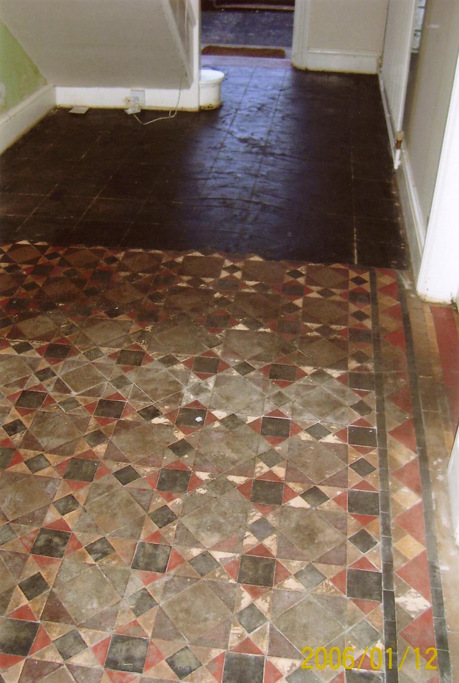 Victorian Geometric tile restoration  The Floor