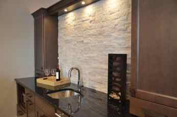 Transitional Bar Backsplash
