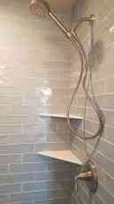 Elongated Subway Tile Shower