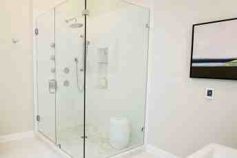 White bathroom shower