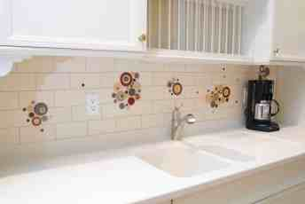 Custom glass tile backsplash