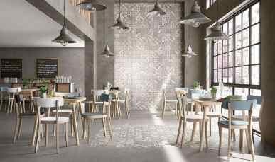 Contemporary Restaurant Tile Wall