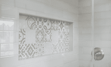 Painted Tile in Shower