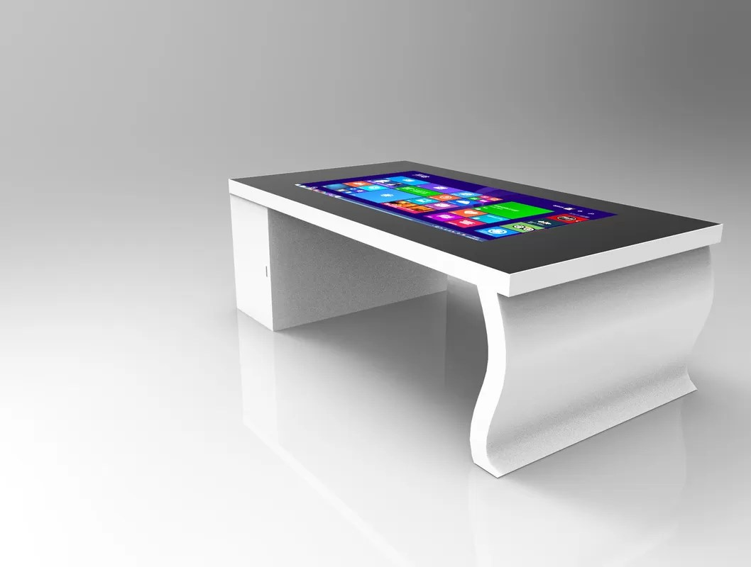 1080p interactive touch screen coffee table white shell resolution 1920 1080