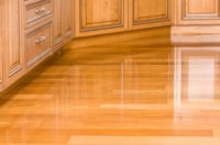 Is it hard to keep shiny laminate floors clean?