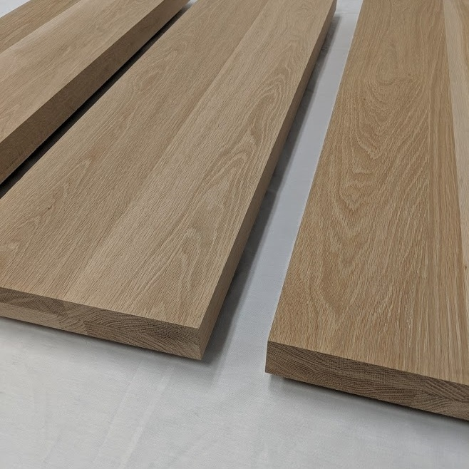 2 Inch Thick White Oak Stair Treads Extra Thick Solid Floating Steps | Engineered Oak Stair Treads | Stair Nosing | Wood | Modern Retro | Laminate Flooring | Stair Parts