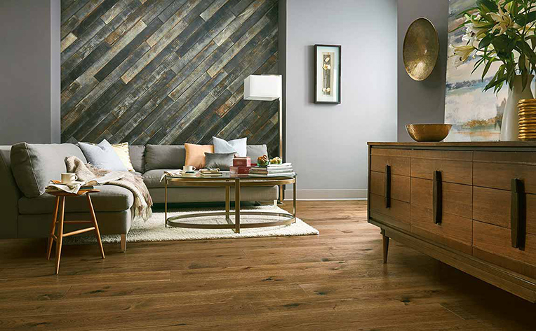 Make A Feature Wall Out Of Flooring Flooring Canada