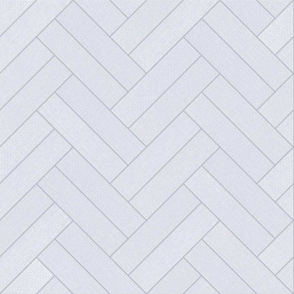 White Tile Bathroom & Kitchen 4.3mm Thick Vinyl Flooring