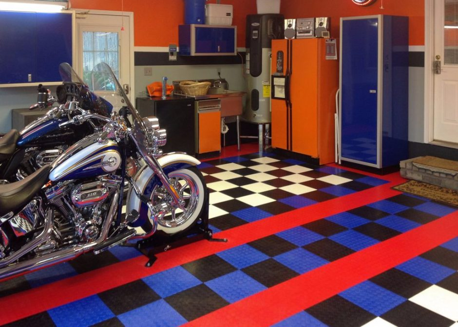 garage man cave flooring 20 garage theme ideas for your perfect space flooringinc blog
