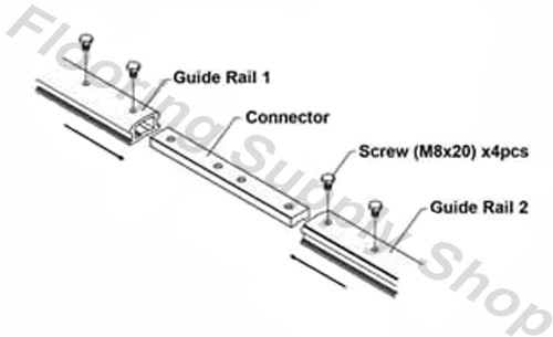Alpha Guide Rail System 6 ft to be use with AWS-110 and