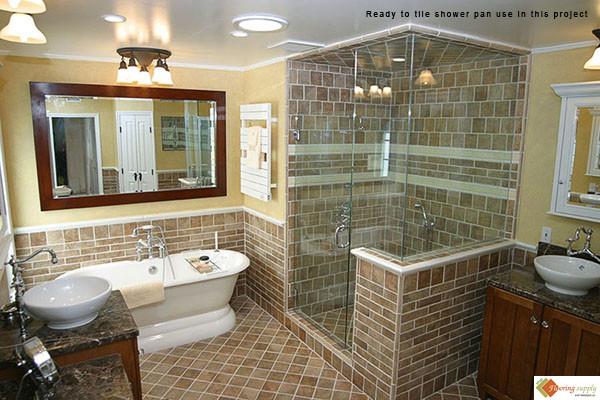 Ready to tile Shower pans, PreFormed Shower Pan, shower pan, tileredi, shower base, custom shower pan