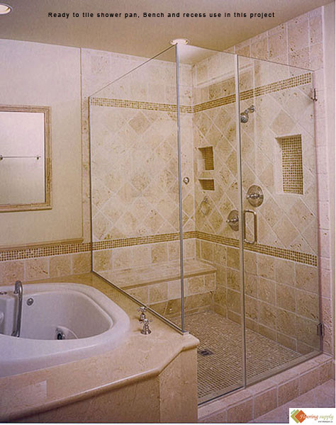 ProPan Shower Pans, Ready To Tile Shower Pan, Shower Pan, Tileredi, Shower