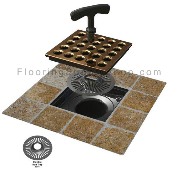 Hair trap, hair remover, clog stopper, bath plug, shower, bathroom accessories, shower drain, Ebbe hair trap