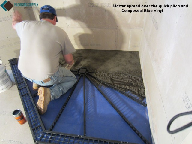 Do it yourself, shower system, quick pitch, composeal waterproofing, blanke corp, schluter kerdi, ebbe drain, aqua shield,  Blanke SecurMat, shower pan, pre pitch, kirb perfect, DIY