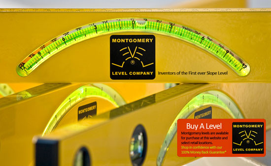 Montgomery level,  bubble level,  Roofers, Carpenters,Engineers, Contractors , Landscape Architects, Building Inspectors, Cabinet Makers, Stone mason, brick masons, Plumbers, Interior Designers,Painters, Metal Trade, Machinists, Graphic Artists, and Do it yourself, plum indicator, level indicator, slope indicator, degree indicator, degree level, pitch level, a level that show pitch,  7 tools in 1, level with a ruler, level with metric ruler, straight edge