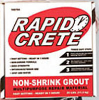 Rapid Crete No-Shrink Grout , provide by www.tiledpeot.us flooring supply store in Los Angeles, we cary Tile, Hardwood floors, Stone, Tools for tile and stone, accessories for shower and more