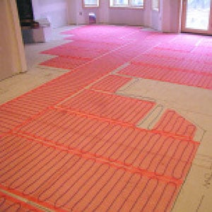radiant floor heating, floor heat, heated floor, heated floor mat, heated tile floor, electric floor heating, electric radiant floor heating