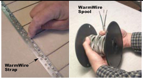 warmwire spool SunTouch warmwire, floor warming, radiant floor Warmwire, suntouch electric warmwire warmwire kits, under floor heating, suntouch radiant floor heating