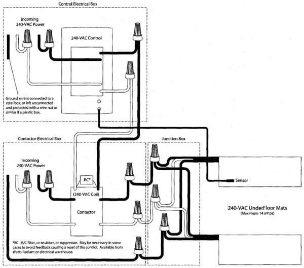 Wiring Diagram For Contactor Underfloor Heating - Tools •