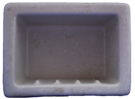 Recessed Soap Dish Porcelain  Stone by HCP Industries at