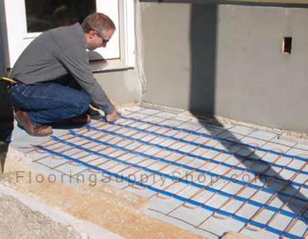 Suntouch snow melting system, radiant heat, electric radiant heat, snow melt systems, radiant floor heating, floor warming, electric floor warming, warm floors, warm floor