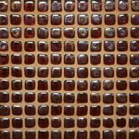 Pebble Glass Mosaic Tile - Dark Brown by ...