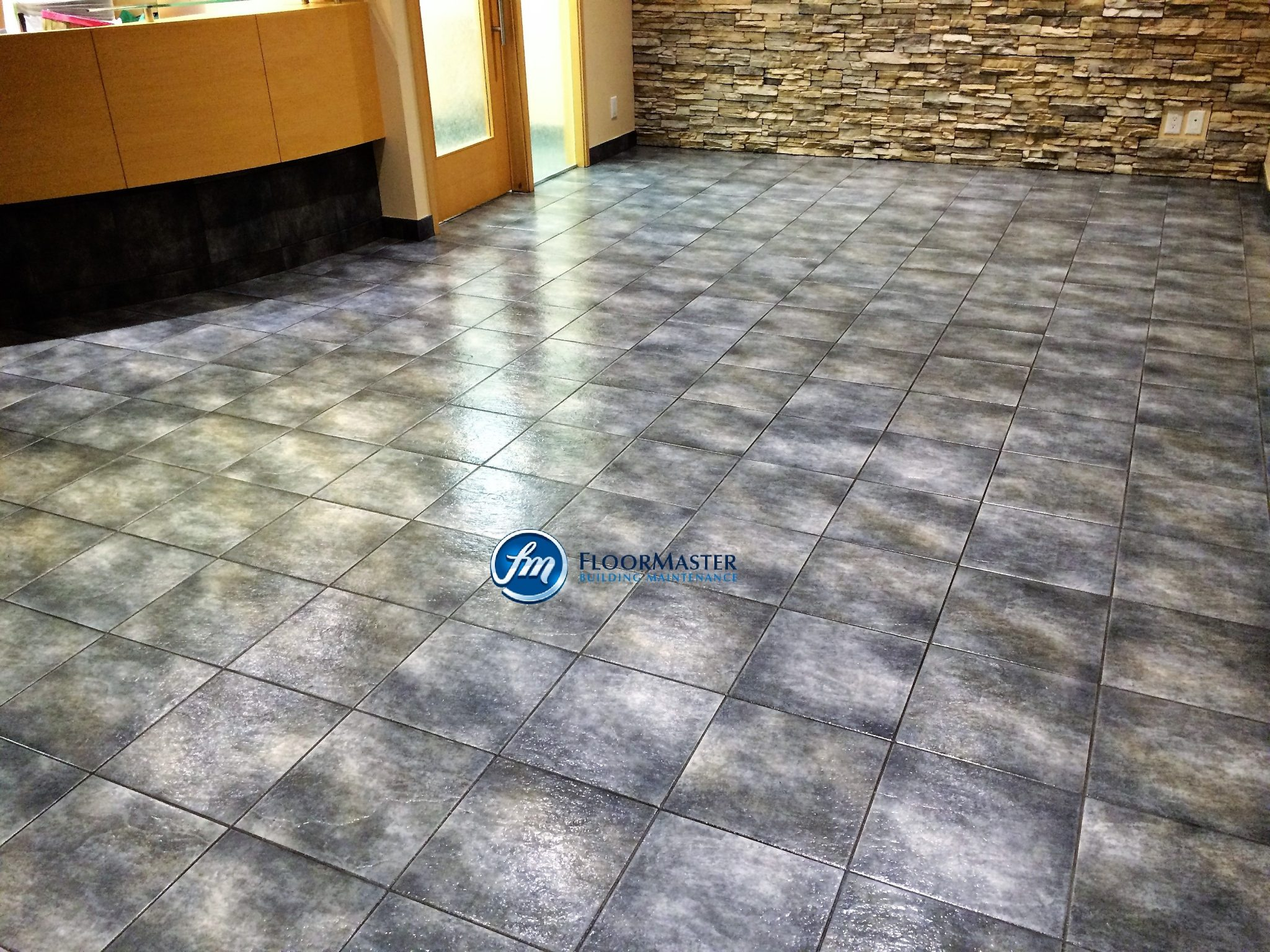 Floor Master Building Maintenance  Stone floor cleaning