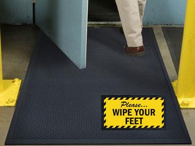 Superscrape Wipe Your Feet Sign Mat  FloorMatShopcom