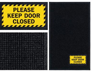 Please Keep Door Closed Sign Mat  WiperScraper