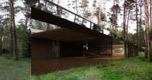 Izabelin House Mirror In Forest Warsaw