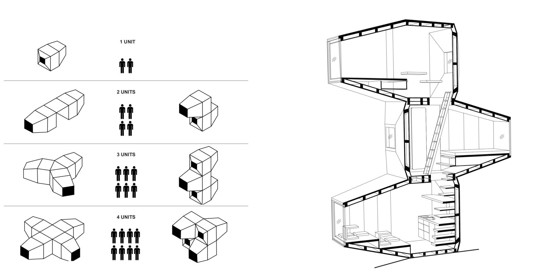 OFIS C+C C28 and AKT Living Unit Milano Design Week