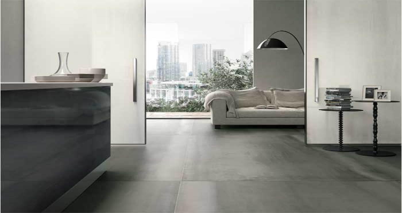 Piastrelle grandi formati effetto metallo pavimenti interni