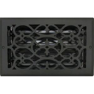 Decorative Heat Register Covers  Black Vent