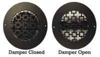 Round Air Vent Cover - Decorative Wall Register