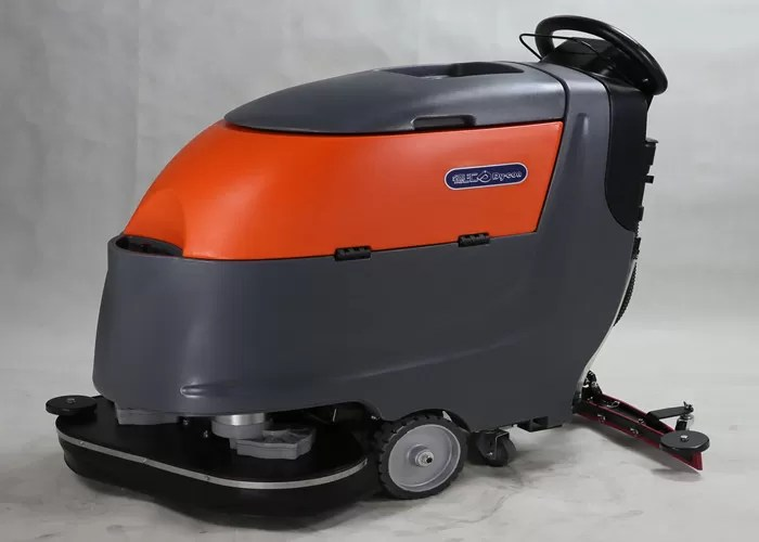 Two 13 Inch Brush Commercial Floor Cleaner Machine Walk